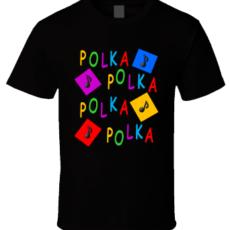 Polka Polka Polka Polka Black T-Shirt